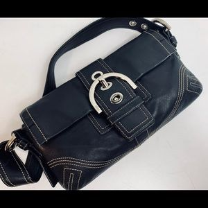 Genuine leather coach bag